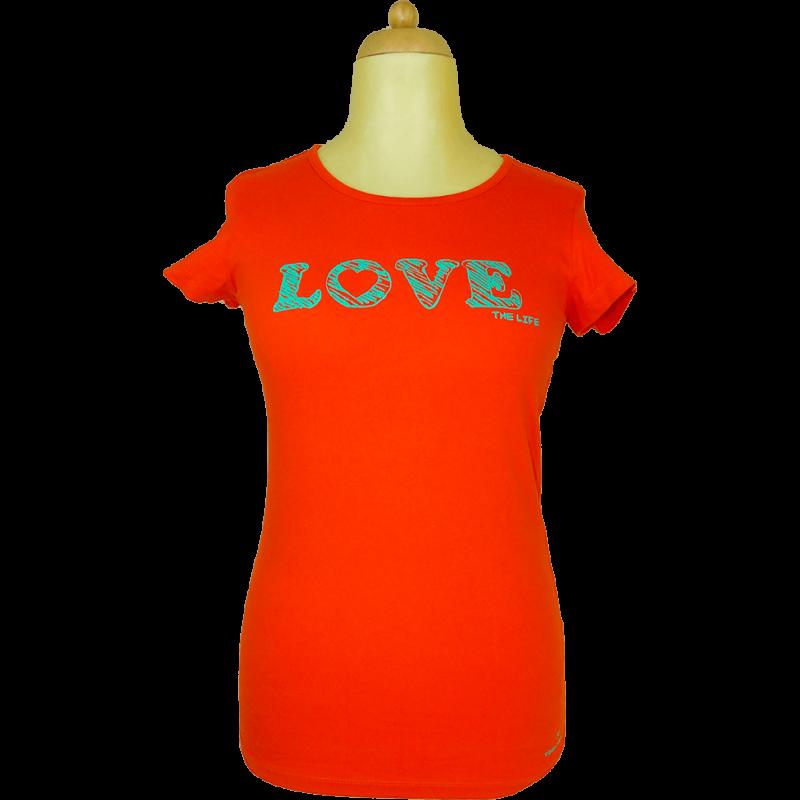 TOM TAILOR narancssárga póló (XL/42)