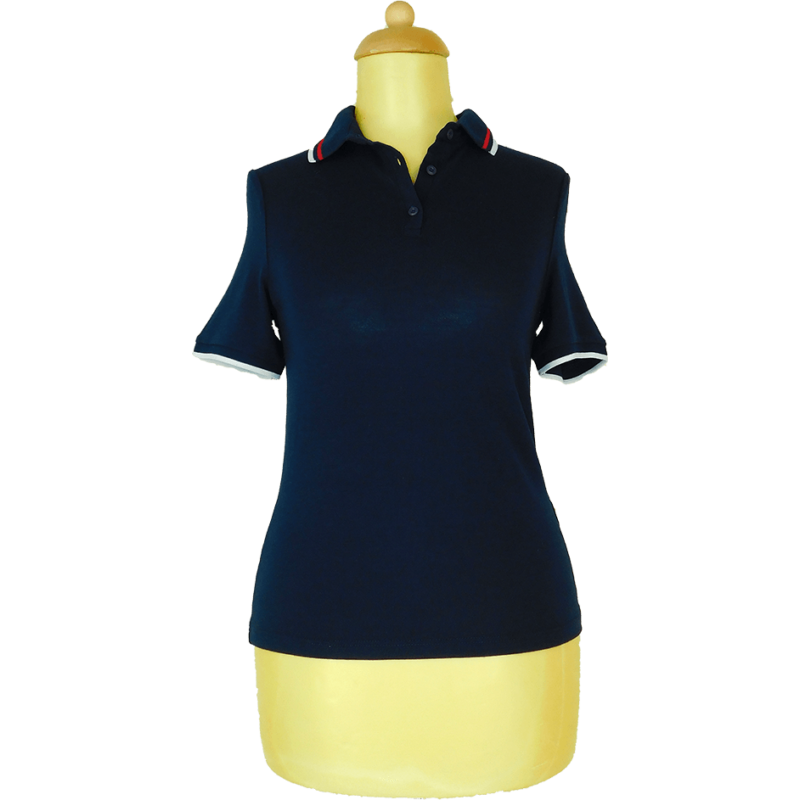 NEW LOOK sötétkék inggalléros póló (XS/34)