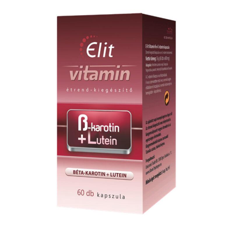 E-lit vitamin - Béta karotin+Lutein 60db kapsz.